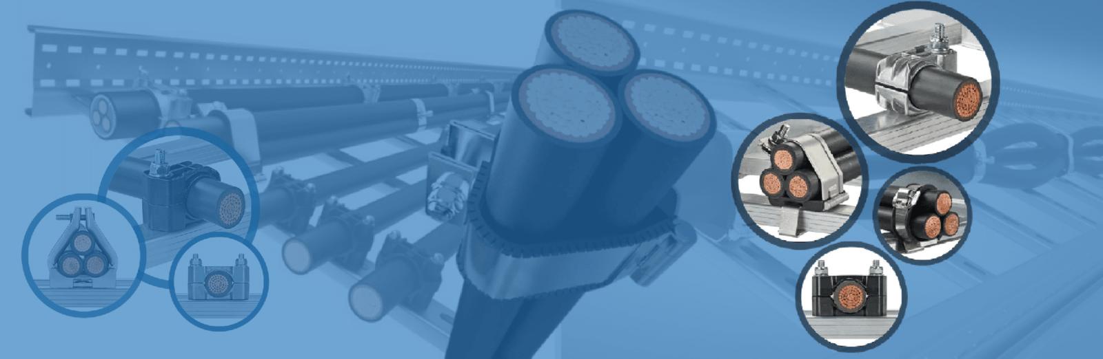 Кабельные зажимы для крепления силового кабеля с защитой от короткого замыкания